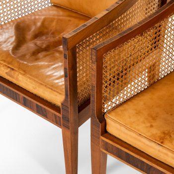Kaare Klint pair of Bergere easy chairs by Rud. Rasmussen at Studio Schalling