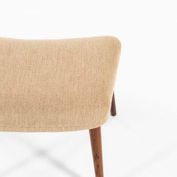 Illum Wikkelsø stool model 91 in rosewood and light fabric at Studio Schalling