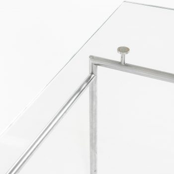 Poul Nørreklit coffee table in chrome and glass at Studio Schalling