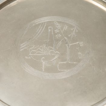 Sylvia Stave serving tray in pewter by C.G. Hallberg at Studio Schalling