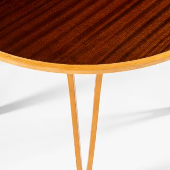 Carl-Axel Acking attributed side table in beech and mahogany at Studio Schalling