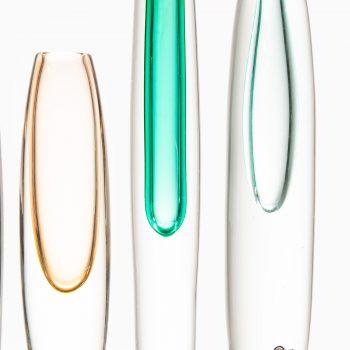 Gunnar Nylund glass vases by Strömbergshyttan at Studio Schalling