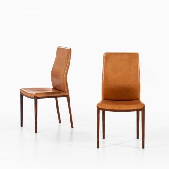 Helge Vestergaard Jensen dining chairs in rosewood at Studio Schalling