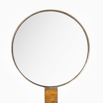 Hand mirror in bronze and wired cane at Studio Schalling