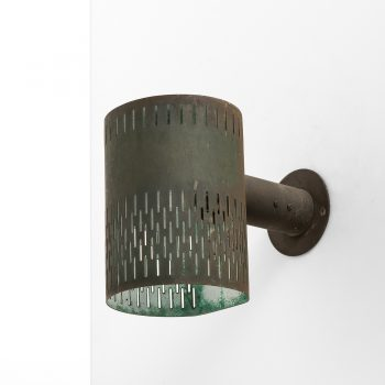 Hans Bergström wall lamps in patinated copper at Studio Schalling