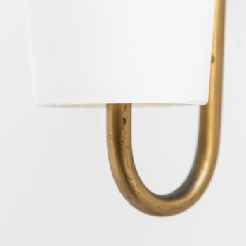 Hans-Agne Jakobsson wall lamps in brass and opaline glass at Studio Schalling