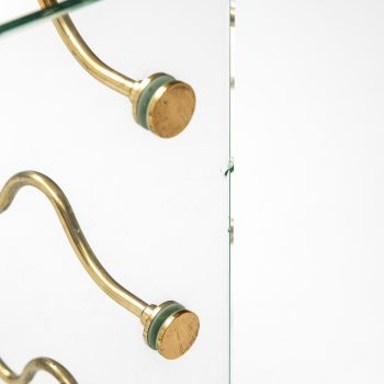 Wine racks in glass and brass by unknown designer at Studio Schalling