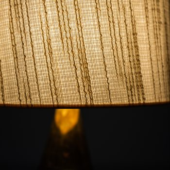 Carl-Harry Stålhane table lamp in ceramic and brass at Studio Schalling