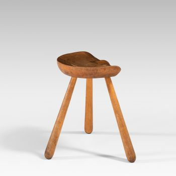 3-legged stool in beech at Studio Schalling
