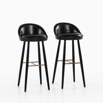 Knud Vodder bar stools model KV 58 by Niels Vodder at Studio Schalling