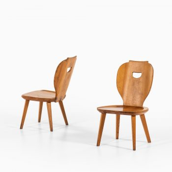 Carl Malmsten easy chairs in pine at Studio Schalling