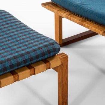 Rare easy chair with stool designed by Børge Mogensen at Studio Schalling