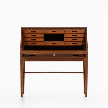 Kai Winding secretaire in rosewood and brass at Studio Schalling