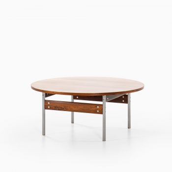 Sven Ivar Dysthe coffee table in rosewood and steel at Studio Schalling