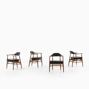 Rare set of 4 armchairs in stained oak at Studio Schalling
