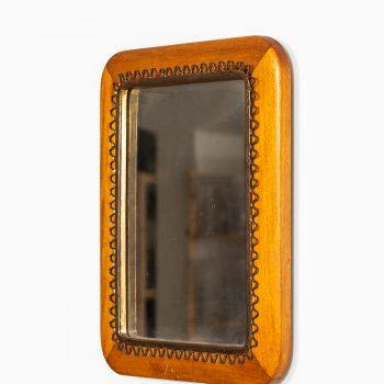 Table mirror in mahogany and brass by Svenskt Tenn at Studio Schalling