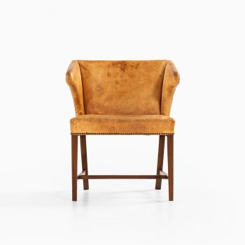 Frits Henningsen attributed armchair in natural leather at Studio Schalling