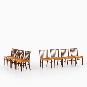 Frits Henningsen dining chairs in cuban mahogany at Studio Schalling