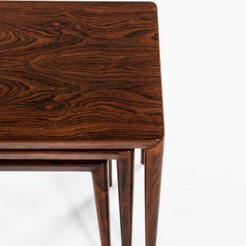 Erik Riisager Hansen nesting tables in rosewood at Studio Schalling