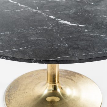 Börje Johanson dining tables in brass and black marble at Studio Schalling