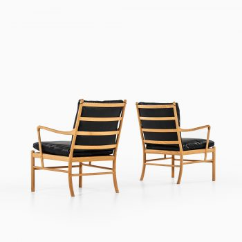 Ole Wanscher Colonial armchairs in ash and black leather at Studio Schalling