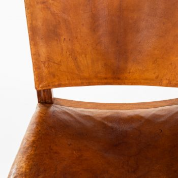 Kaare Klint dining chairs model 3758 in niger leather at Studio Schalling
