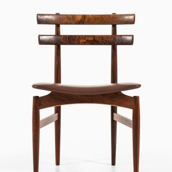 Poul Hundevad dining chairs model 30 in rosewood at Studio Schalling