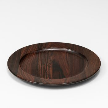 Coaster plates in rosewood attributed to Jens Quistgaard at Studio Schalling