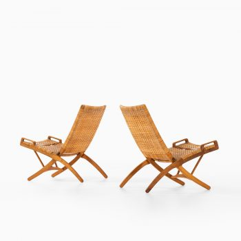 Hans Wegner easy chairs model JH512 by Johannes Hansen at Studio Schalling