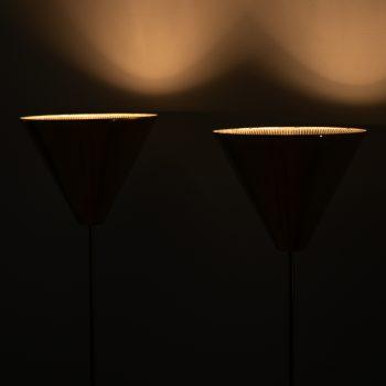 Bergbom floor lamps model G-07 in brass at Studio Schalling
