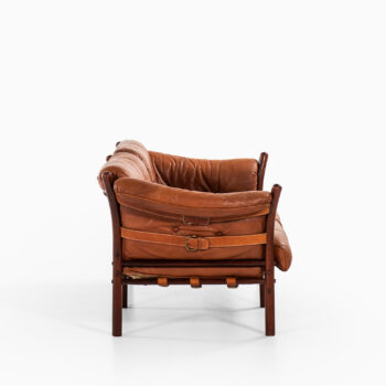 Arne Norell sofa model Indra in leather at Studio Schalling