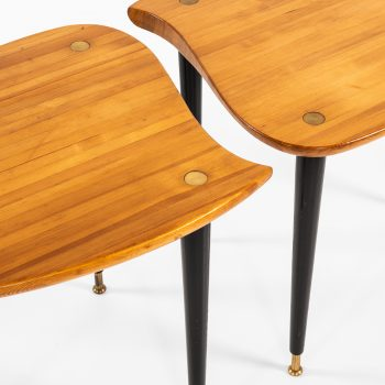 Pair of side tables in pine by unknown designer at Studio Schalling