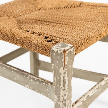 Side chair in hemp string by unknown designer at Studio Schalling