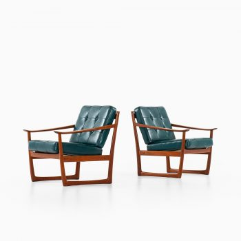 Peter Hvidt & Orla Mølgaard-Nielsen sleigh easy chairs at Studio Schalling