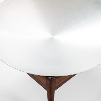 Kristian Solmer Vedel side table in rosewood and steel at Studio Schalling