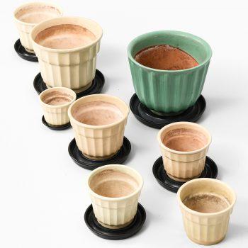 Ewald Dahlskog flower pots by Bobergs fajansfabrik at Studio Schalling