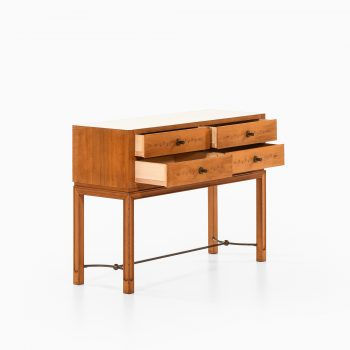 Sideboard / console table in elm and brass at Studio Schalling