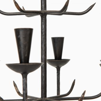 Wrought iron chandelier by unknown designer at Studio Schalling