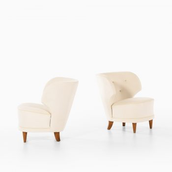 Carl-Johan Boman easy chairs in velvet fabric at Studio Schalling