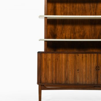 Kurt Olsen bookcase in walnut and white lacquer at Studio Schalling