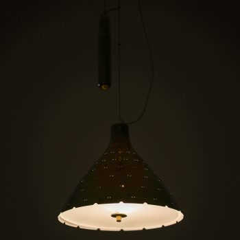 Paavo Tynell counter weight ceiling lamps in brass at Studio Schalling