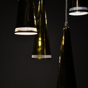 Mauri Almari ceiling lamp in brass by Idman at Studio Schalling