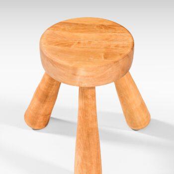 Ingvar Hildingsson stool in birch at Studio Schalling