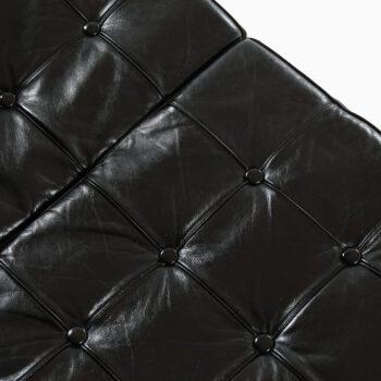 Karl-Erik Ekselius sofa in teak and black leather at Studio Schalling