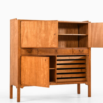 Axel Bäck cabinet in mahogany and brass at Studio Schalling