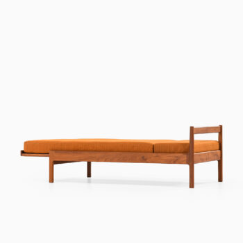 Daybed in teak and woven cane at Studio Schalling