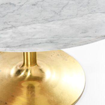 Börje Johanson dining table in Carrara marble at Studio Schalling