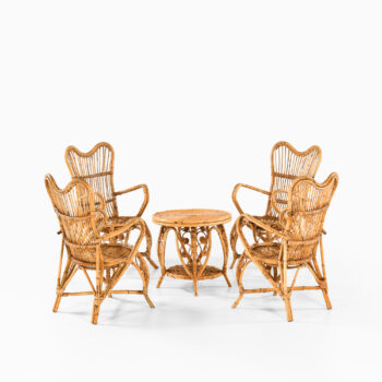 Seating group in rattan and cane at Studio Schalling