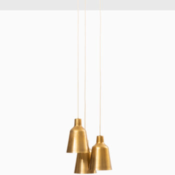 Hans Bergström ceiling lamp in brass at Studio Schalling