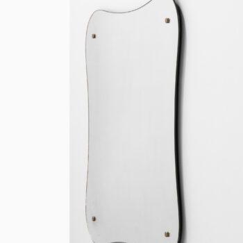 Mirror with pewter details at Studio Schalling